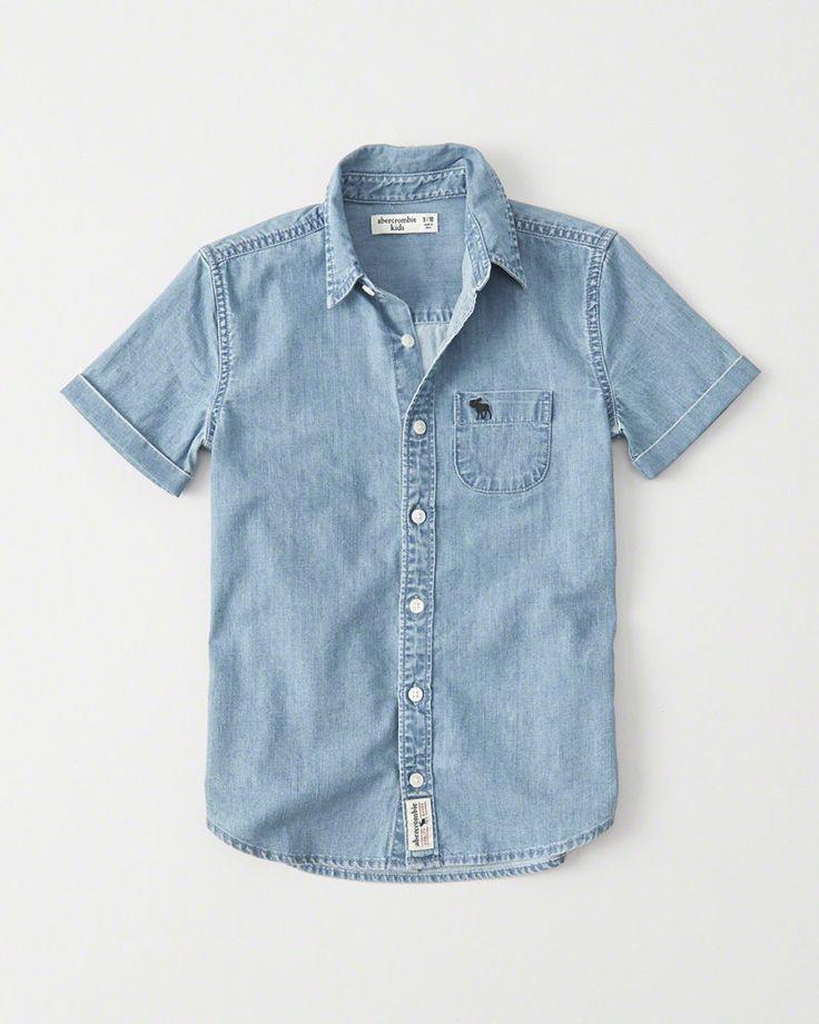 short sleeve denim shirt | abercrombie