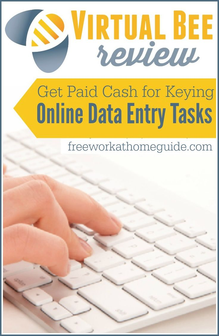 Get Paid Cash For Keying Online Data Entry Tasks at Virtual Bee  - Free Work at Home Guide