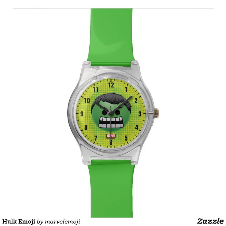 Hulk Emoji. Reloj de pulsera. Producto disponible en tienda Zazzle. Accesorios, moda. Product available in Zazzle store. Fashion Accessories. Regalos, Gifts. #reloj #watch