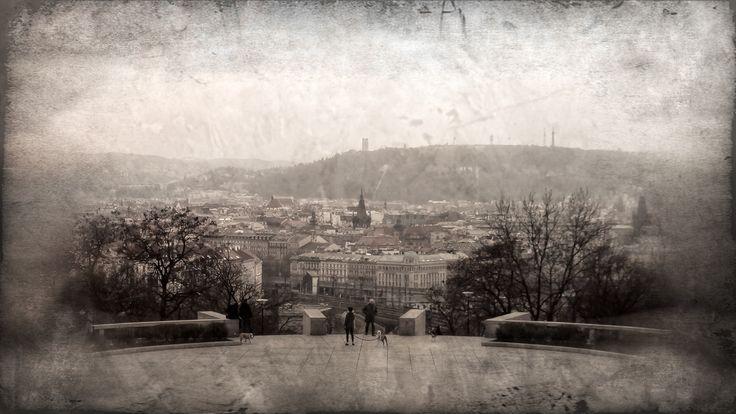 Pohled na Prahu od Památníku Vítkov