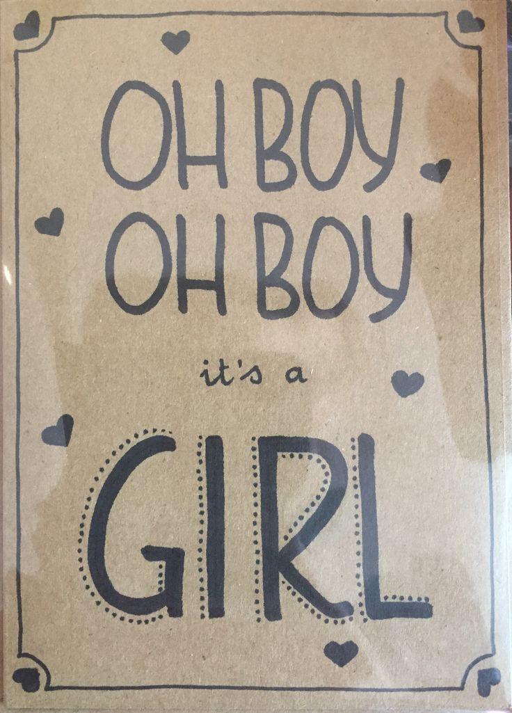 Geboorte meisje: Oh boy oh boy, it's a girl