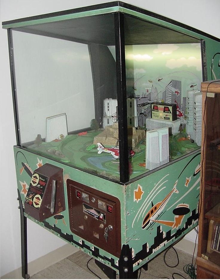 1974 Midway Chopper Helicopter Coin Operated Flying Arcade