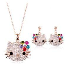 allencoco ювелирные изделия милый кот с австрийскими кристалла ювелирных изделий