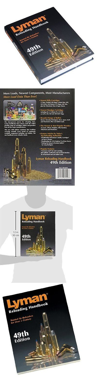Manuals and Instruction Material 111293: Lyman 49Th Edition Reloading Handbook, Guide Manual Ammo, Free Shipping, New -> BUY IT NOW ONLY: $55.79 on eBay!