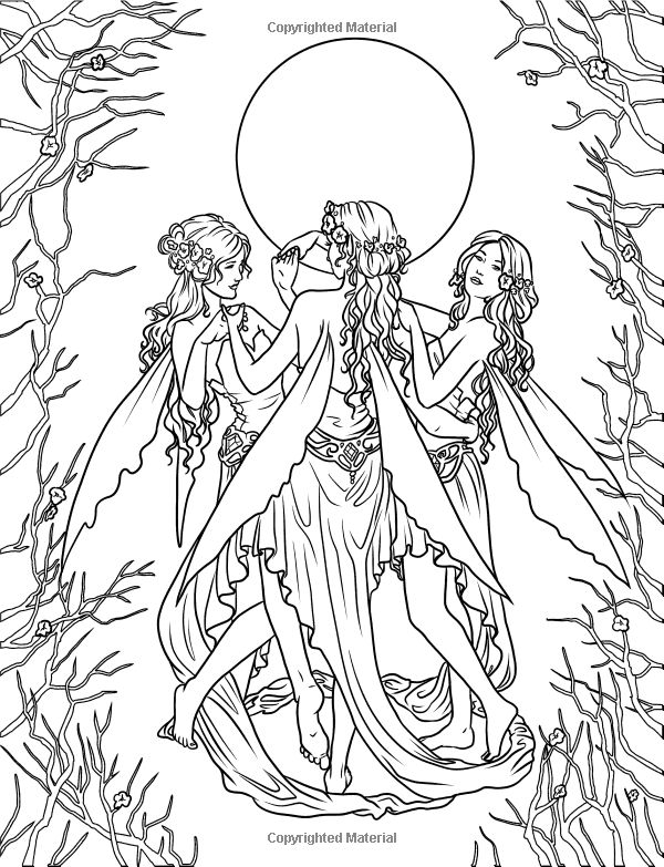 17 bedste billeder om fairy and angels p pinterest for Mythical coloring pages for adults