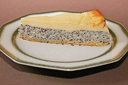 Mohnkuchen mit Schmand und Vanillepudding 1