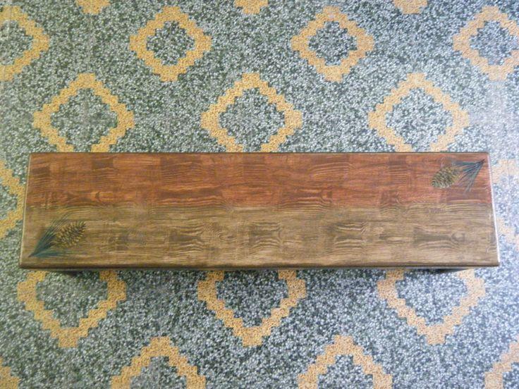 Ξύλινο χαμηλό παγκάκι 22x90x22cm