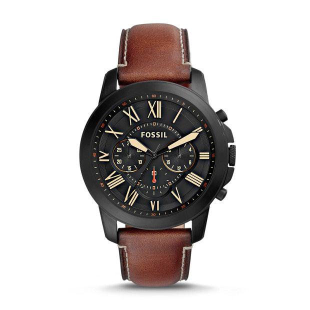 Le cuir lisse et l'acier brossé de la montreGrant Sport chronographe sont parfaits pour les occasions formelles mais s'adaptent à toutes vos activités quotidiennes.