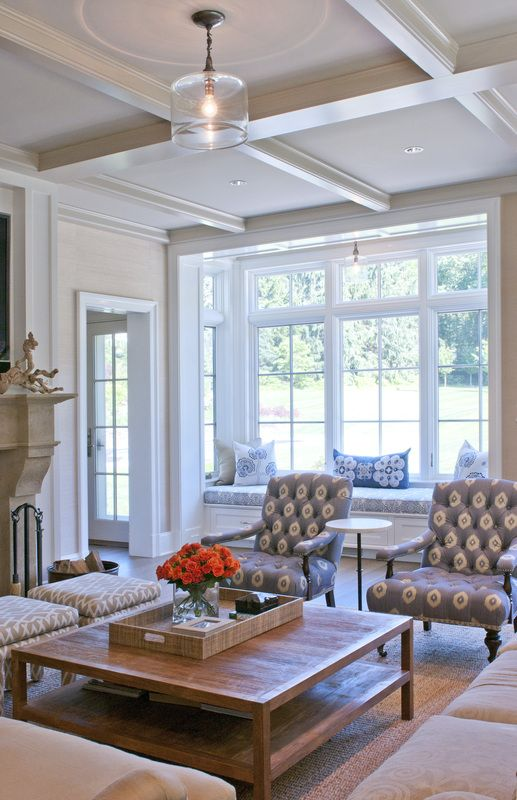 Love this room, grab a book and let the sun shine in!  Living room family room bright and t