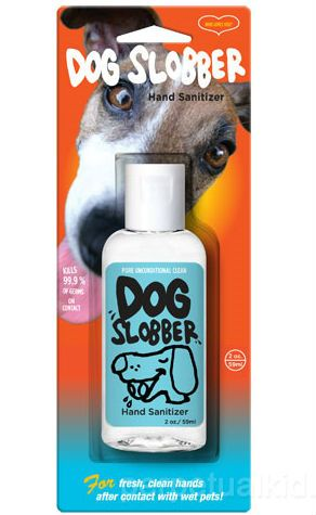 Dog Slobber Hand Sanitizer - Top Yankee Swap Gift Ideas for 2013 by MyUntangledlife.com