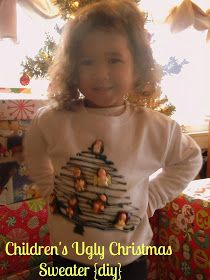 Sugar for Breakfast: Children's Ugly Christmas Sweater {DIY}