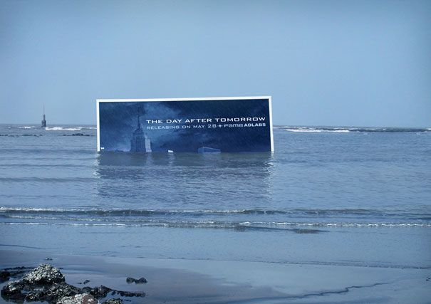 """This is a super cool Billboard ad...for the movie """"The day after Tomorrow"""" ...Brilliant!"""