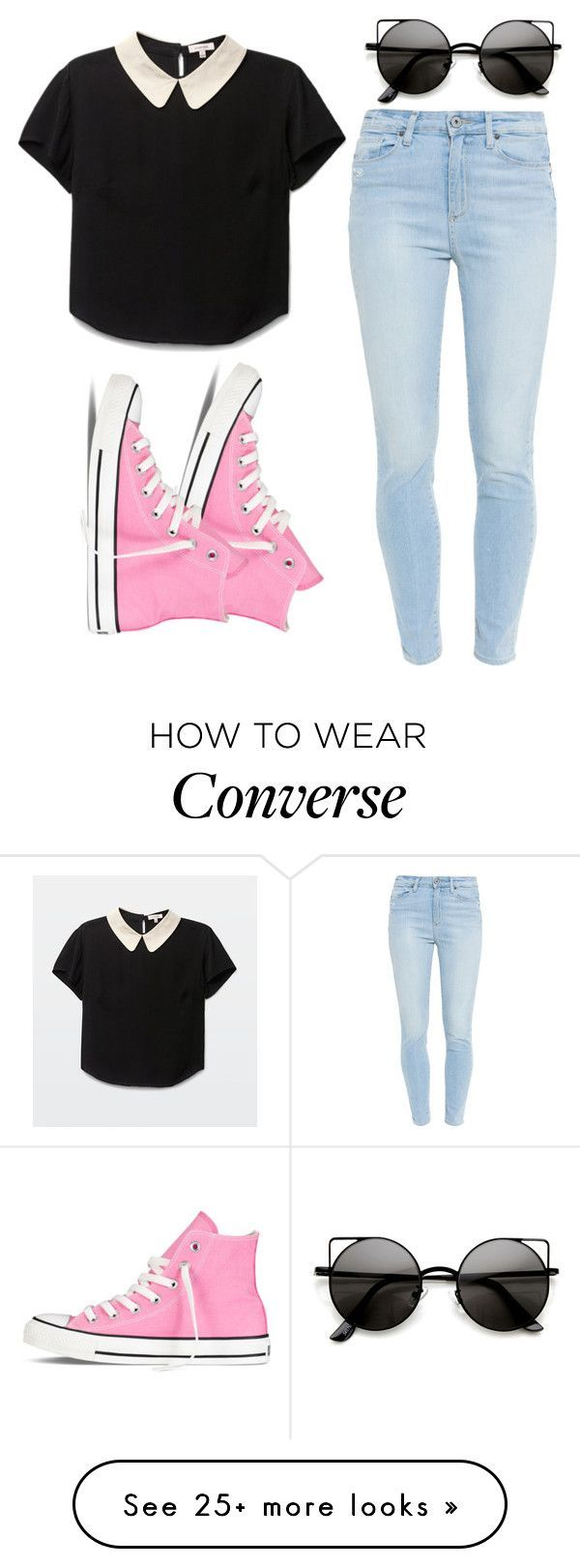 """""""Untitled #908"""" by stylejuliet26 on Polyvore featuring Converse and Paige Denim"""