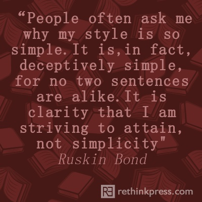 ruskin bond quotes writing a book