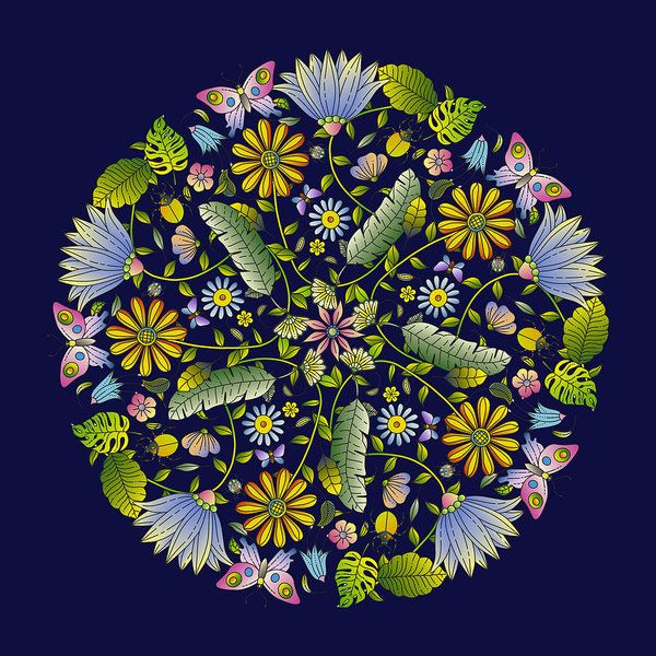 Floral Mandala by Stanley Wong