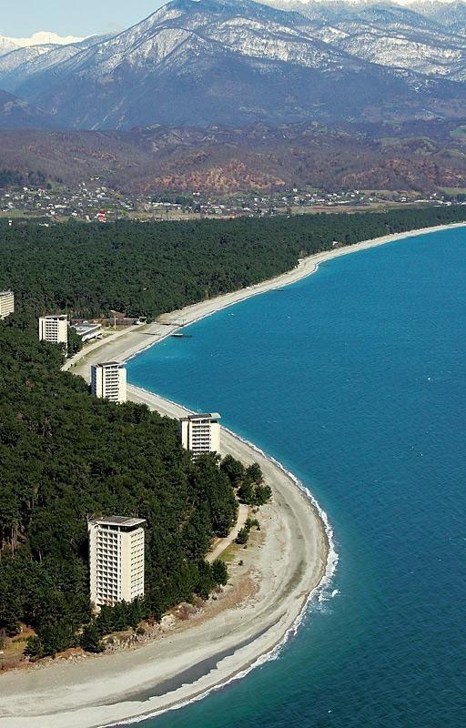 Pitsunda Bichvinta Abkhazia Black sea beaches Caucasus mountains●●absolutely beautiful, cannot wait to vacation there●●