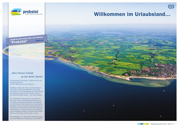 [German content] The 2014 holiday brochure of vacation region 'Probstei' located on the Baltic Coast in Germany has been augmented by marketing and advertising agency ide stampe using @Layar.
