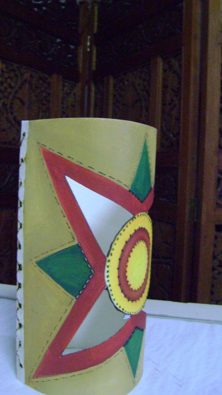 Farol de Navidad Pirograbado en Cartón