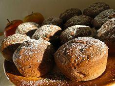 Čokoládové muffiny s jablíčkem