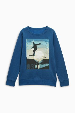 Buy Cobalt Skate Crew Neck Sweat (3-16yrs) from the Next UK online shop
