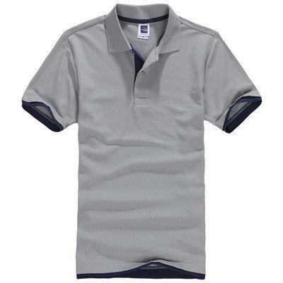 Short Sleeve Polo Shirt With Color Accent Waistline, Sleeve, Collar