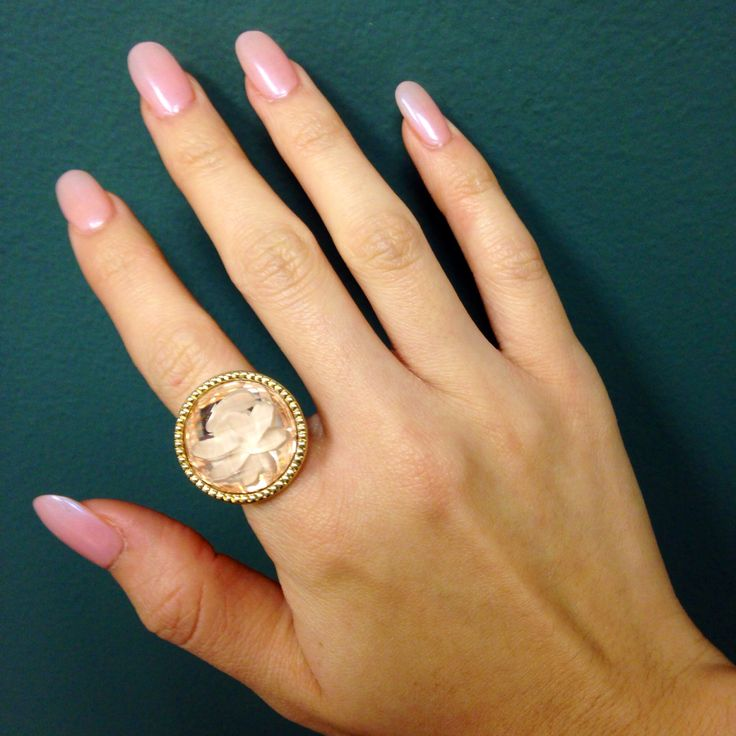 Round Light Pink Nails | Nails | Pinterest