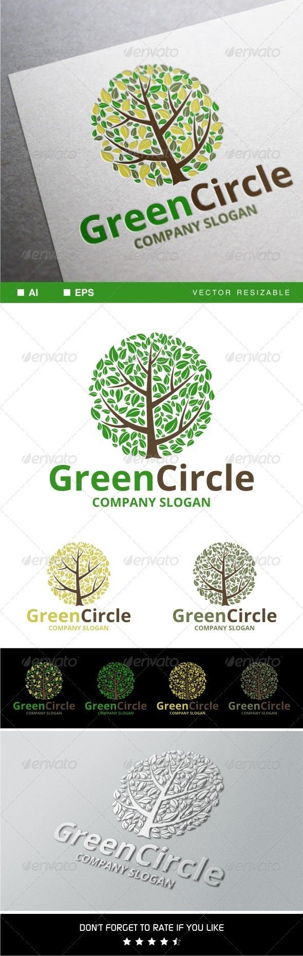 Green Circle Logo — Vector EPS #leaf #ornament • Available here → https://graphicriver.net/item/green-circle-logo/7941151?ref=pxcr