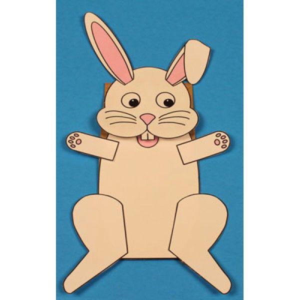 Marionnette lapin avec un sac en papier