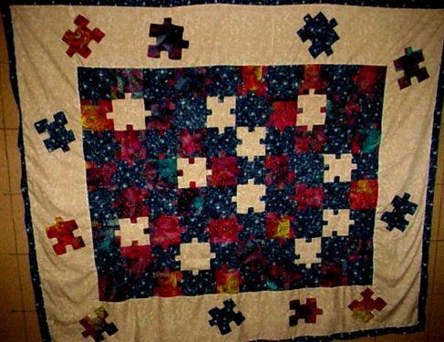 33 best Quilts - Puzzle Pieces images on Pinterest | Quilt ... : quilting daily - Adamdwight.com