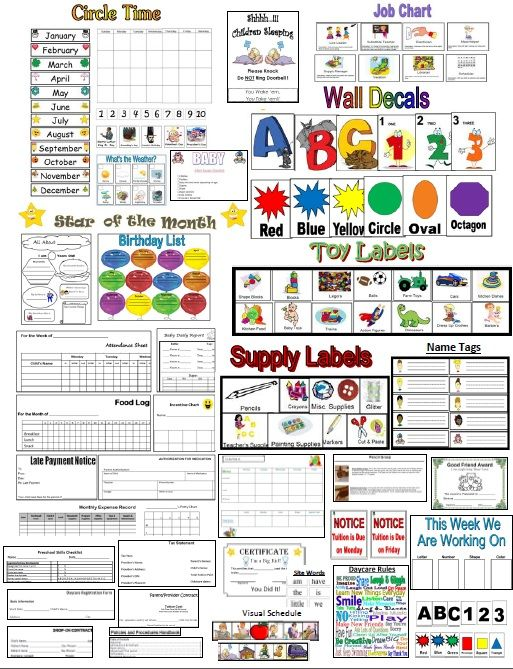 Writing Preschool Chart printable sight Name Skills Words Chart Potty Sight Checklist  word chart
