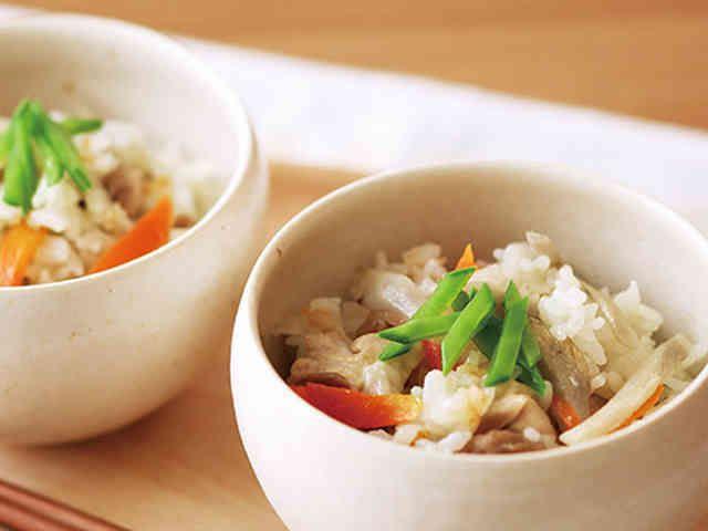 鶏ごぼう炊き込みご飯の画像