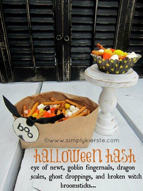 Halloween Hash recipe. Perfect sweet and salty treat.