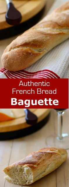 Baguette is the traditional long and thin loaf of French bread with an exquisite crispy crust that cracks when you squeeze it. #French #bread #196flavors