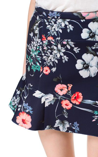 PRINTED SKIRT WITH FRILL - Woman - New this week - ZARA United Kingdom