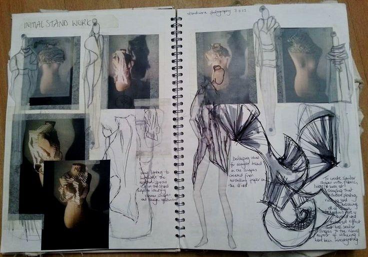 Hannah Culley. First Year Fashion Degree Sketchbook