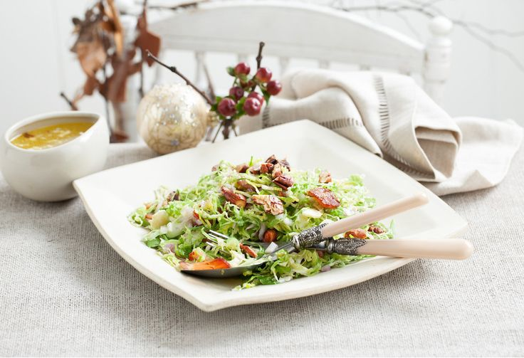 Get over your childhood memories of over-cooked brussels sprouts and try this fabulous salad. The magic ingredient is bacon!