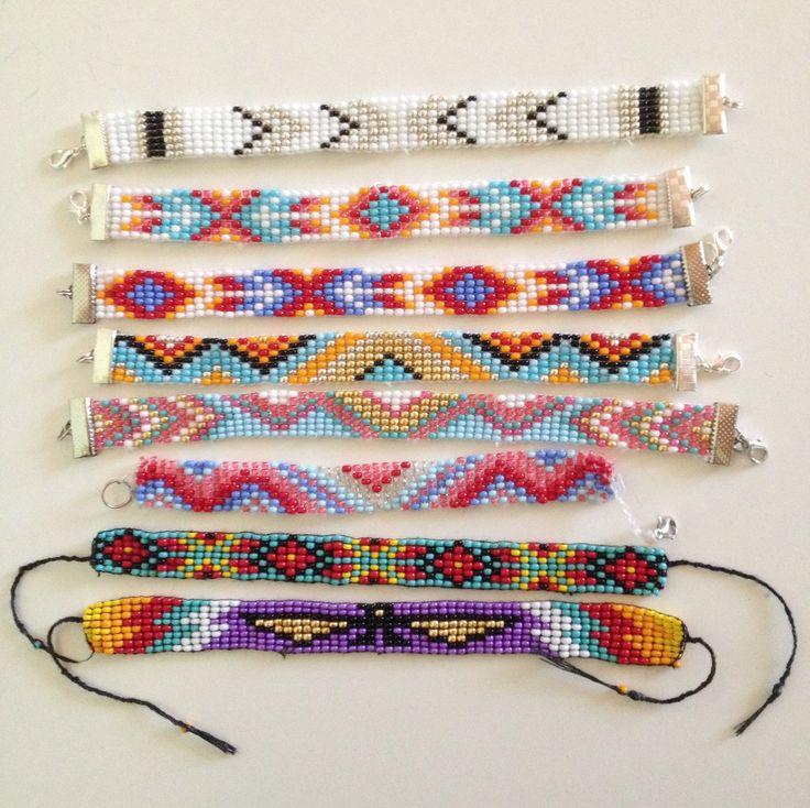 MDC Bracelet brésilien en perles tissées sur mesure style indien : Bracelet par littlenavajo ...