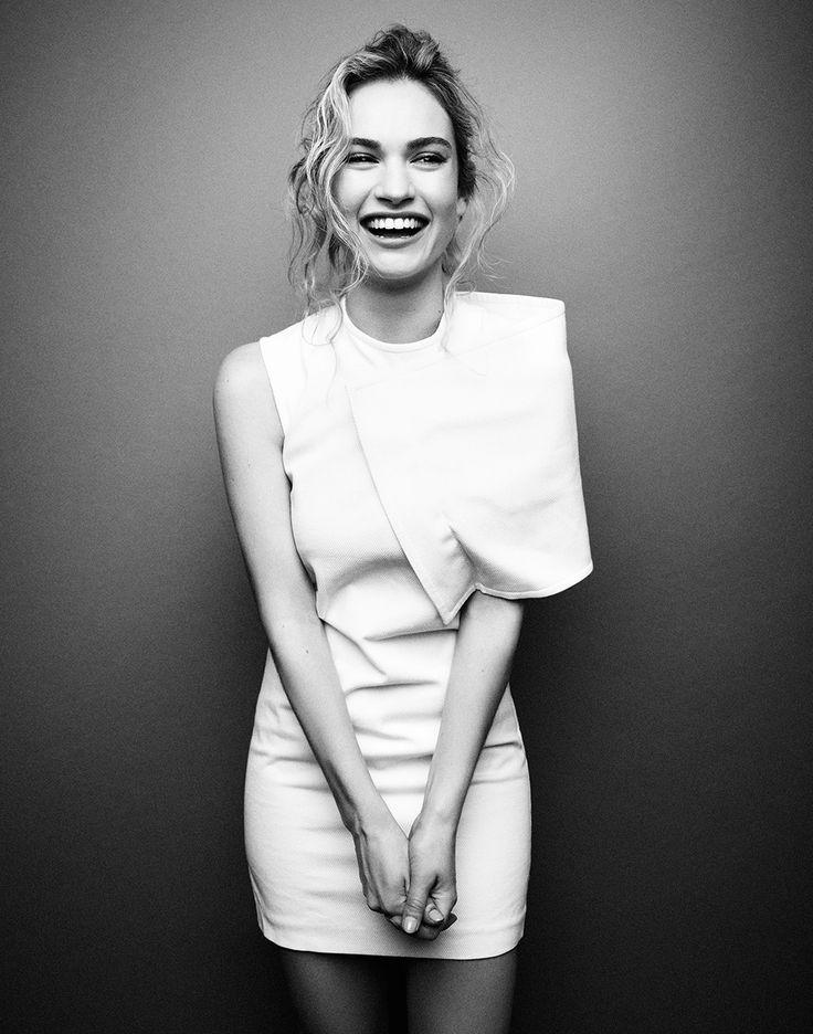 Лили Джеймс — Фотосессия для «Glamour» UK 2014 – 3