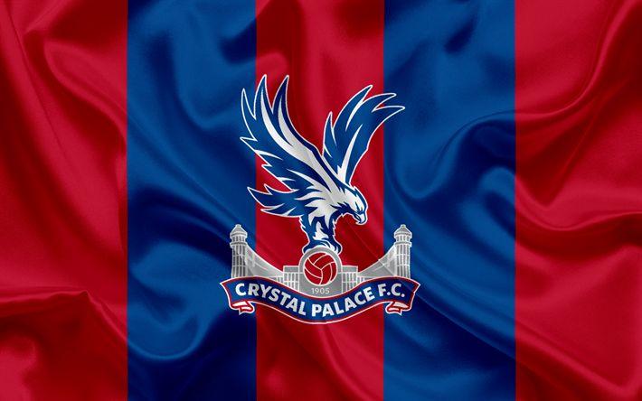 Lataa kuva Crystal Palace FC, Football Club, Premier League, jalkapallo, Lontoo, UK, Englanti, tunnus, Crystal Palace logo, Englannin football club