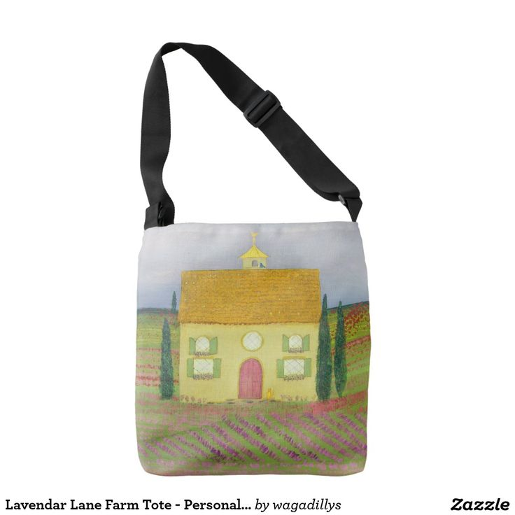 Lavendar Lane Farm Tote - Personalizable Tote Bag