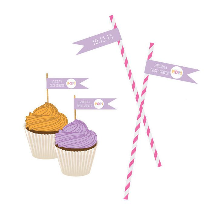 Going to Pop - Pink Personalized Flag Labels