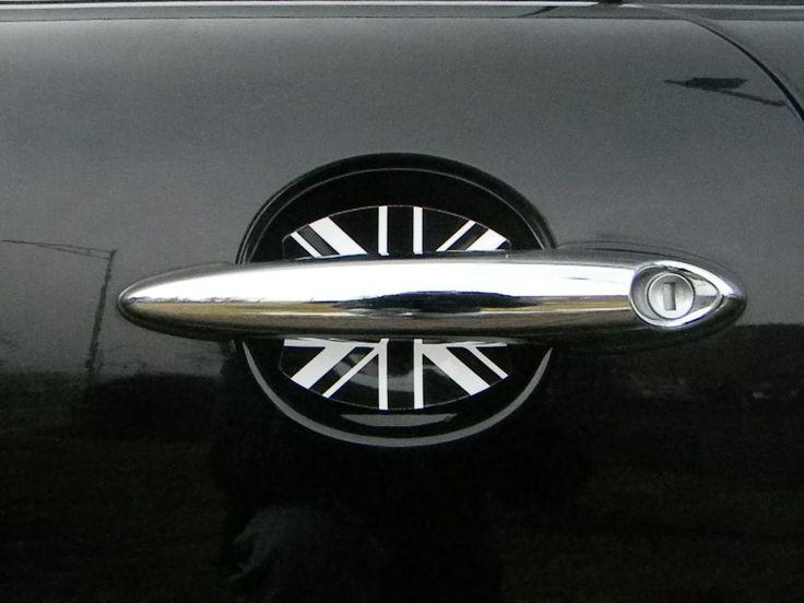 MINI COOPER BRITISH FLAG UNION JACK DOOR HANDLE SCRATCH GUARDS CAR ACCESSORY 4PK http://www.cupeezforcars.com/