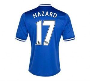 Chelsea Jersey 13/14 Home #17 HAZARD Soccer Jersey Soccer Shirt Adidas Blue