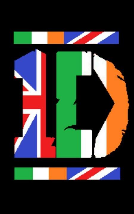 British And Irish Flag One Direction Logo3