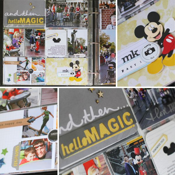 Disney Scrapbook Using Project Life - Day 2, Magic Kindgom  #projectlife #studiocalico #disney