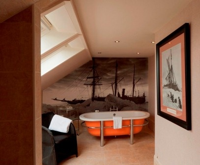 Shackleton suite bathroom with amazing #bathtub. Book your next stay at www.channings.co.uk.