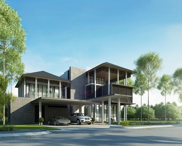 Yangoon typea option1 final 140926 m1 4 malaysia modern for Modern house yangon