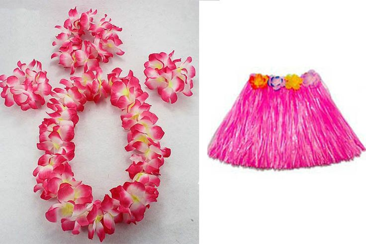 Adult 60cm HAWAIIAN HULA FANCY DRESS GARLAND WRISTBANDS HEADBAND SKIRTS Party Supplies Wedding Favors #Affiliate