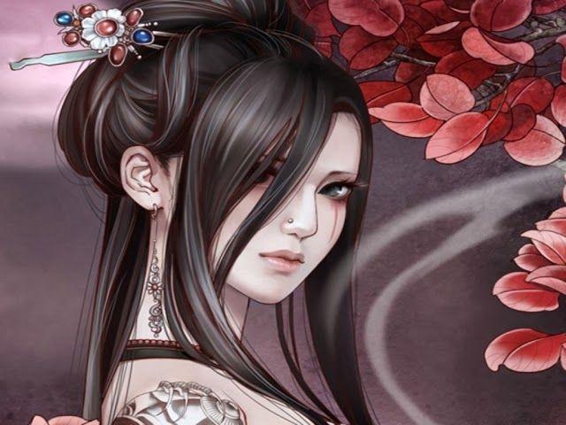 wallpaper geisha corals girl - photo #43