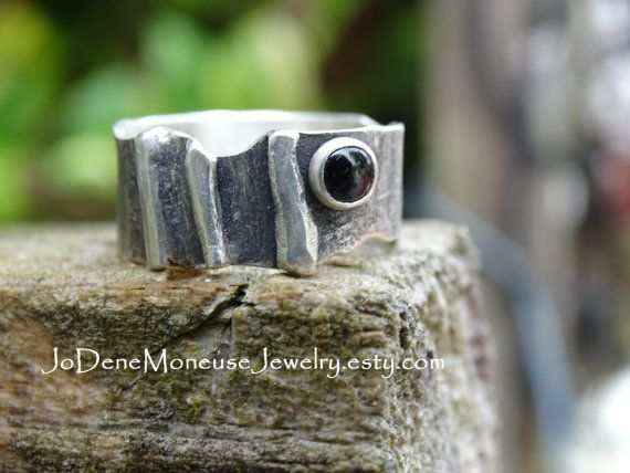 Sterling silver ring rustic reticulated by JoDeneMoneuseJewelry